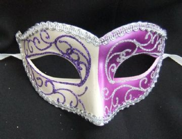 Purple & White 2 tone Petite Mask